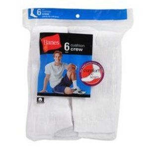 Hanes Men's Crew Cushion Socks